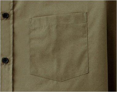 EP-5962 チトセ(アルベ) ブロードシャツ/長袖(男女兼用)レギュラーカラー ポケット付き