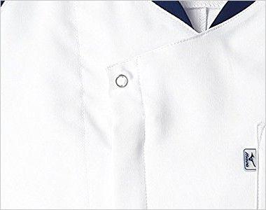 MZ-0111 ミズノ(mizuno) メンズスクラブ(男性用) ドットボタンとフロントファスナー