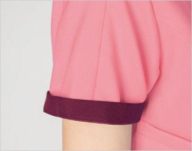 7024SC FOLK(フォーク) レディス ジップスクラブ(女性用) 折り返して着られる袖デザイン