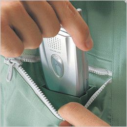 自重堂 47800 [春夏用]エコ 5バリュー 長袖ブルゾン(JIS T8118適合) 右胸 携帯電話収納ポケット