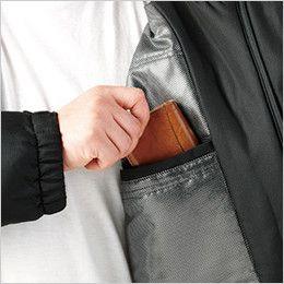 自重堂 48480 メガヒート防寒ブルゾン(フード付・取り外し可能) 左胸 内ポケット