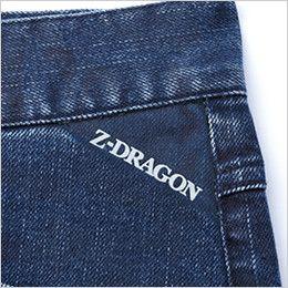 自重堂 71602 Z-DRAGON ストレッチデニムノータックカーゴパンツ ロゴプリント
