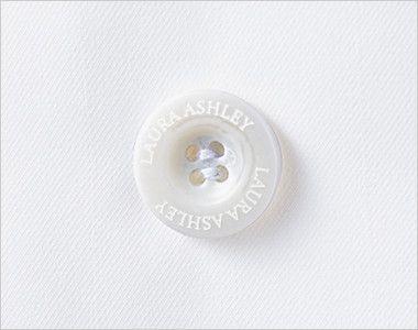 LW101 ローラアシュレイ 長袖ドクターコート(女性用) オリジナルボタン