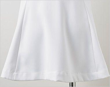 LW802 ローラアシュレイ 半袖ナースジャケット(女性用) 後ろ姿もかわいらしいフレアシルエット