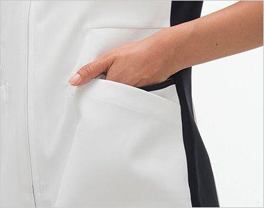 FT4442 ナガイレーベン(nagaileben) スクラブ(女性用) おしゃれで収納力のある二重構造の両脇ポケット