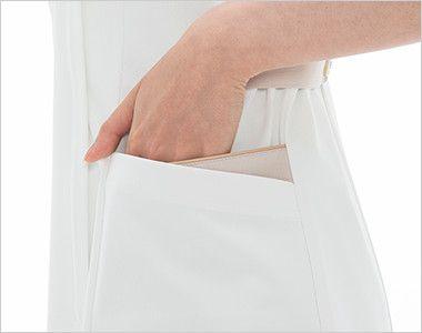 LH6242 ナガイレーベン(nagaileben) ビーズベリー チュニック半袖(女性用) おしゃれで収納力のある二重構造の両脇ポケット