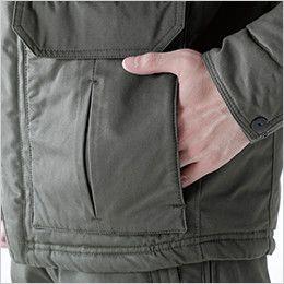 5127 TS DESIGN ライトウォームハーフコート(男女兼用) 脇ウォームポケット