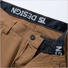 53041 TS DESIGN [春夏用]ライトテックレディースカーゴパンツ(女性用) 帯裏デザイン