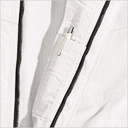 6116 TS DESIGNリップストップ 長袖ジャケット(男女兼用) 内側ペン差し