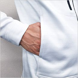 6226 TS DESIGN ES制電ロングスリーブジャケット(男女兼用) ポケット
