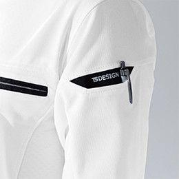 81305 TS DESIGN ES ワークニットロングポロシャツ(男女兼用) マルチスリーブポケット