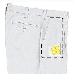 ジーベック 1276 [春夏用]ツータック プリーツロンミニハイブリットラットズボン コインポケット付き