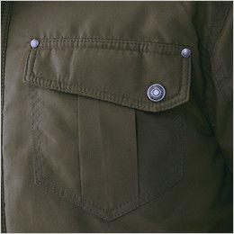 ジーベック 332 デザイナーズ トップサーモ中綿防寒ブルゾン リベット使いのポケット