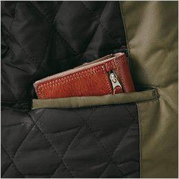 ジーベック 332 デザイナーズ トップサーモ中綿防寒ブルゾン 内ポケット