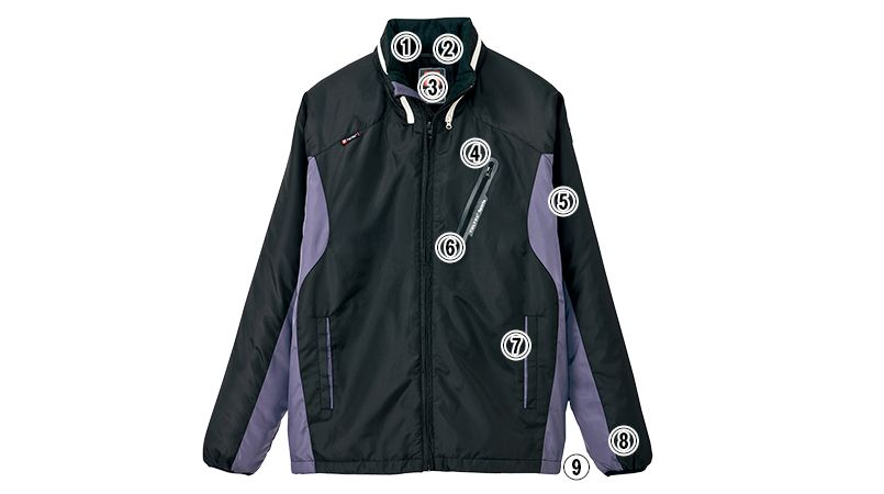 AZ10304 アイトス [秋冬用]タルテックス フードイン中綿ジャケット(男女兼用) 商品詳細・こだわりPOINT