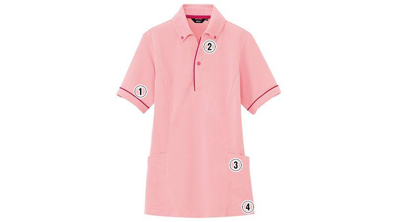 AZ7668 アイトス ペップ サイドポケット半袖ポロシャツ(男女兼用)(6.3オンス) 商品詳細・こだわりPOINT