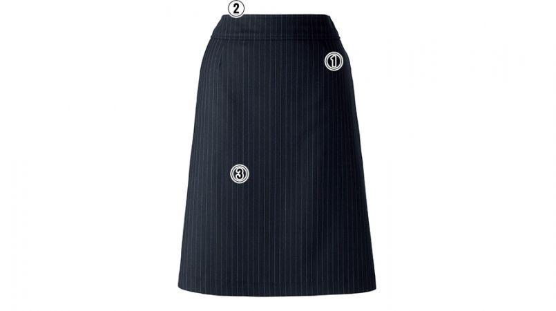BONMAX AS2270 [通年]ベガ Aラインスカート ストライプ 商品詳細・こだわりPOINT