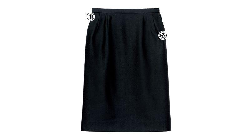 FS2003L FACEMIX/GRAND(グラン) ストレッチスカート(女性用) 無地 商品詳細・こだわりPOINT