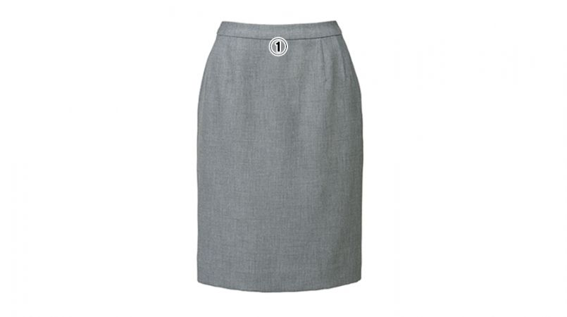 BONMAX LS2752 [春夏用]プラティーヌ ストレッチ素材のタイトスカート 無地 商品詳細・こだわりPOINT