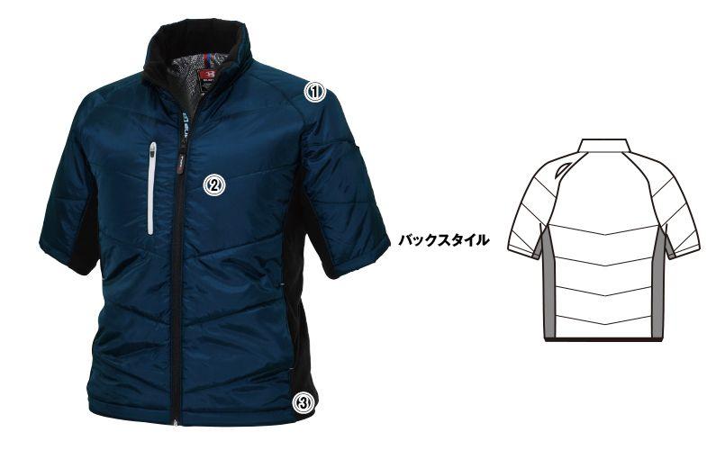 バートル 7316 PUコーティング半袖防寒ブルゾン(男女兼用) 商品詳細・こだわりPOINT