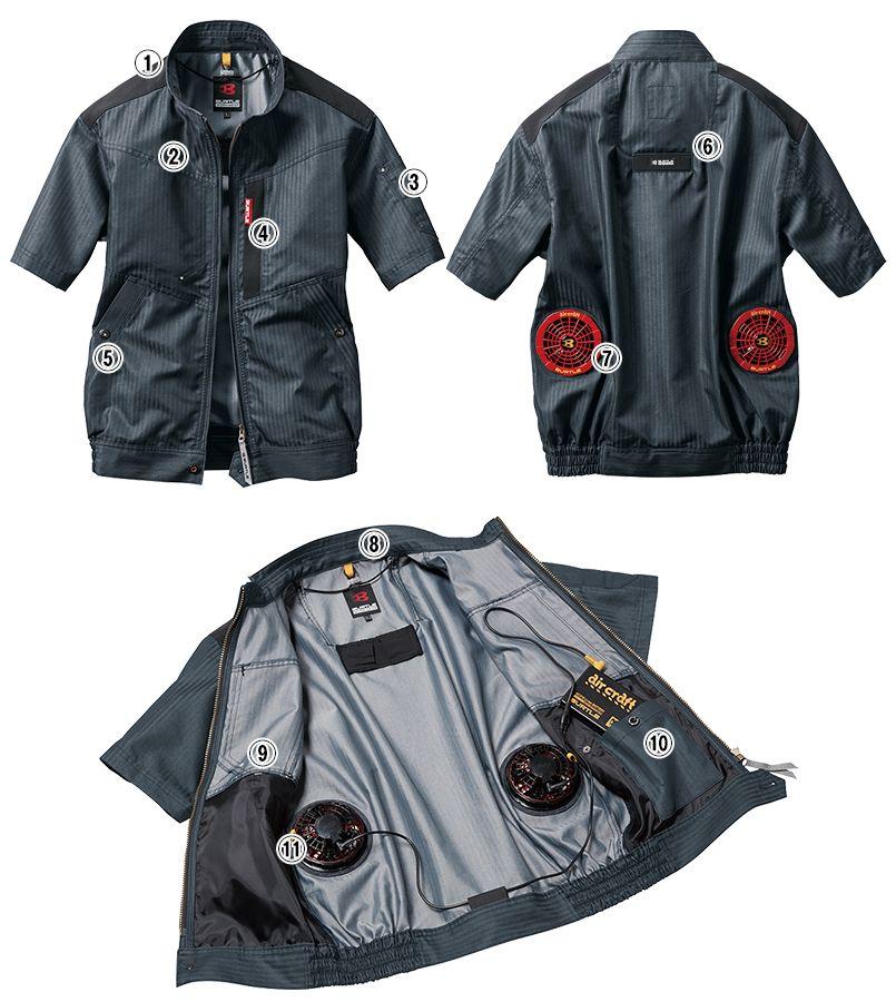 バートル AC1056SET エアークラフトセット[空調服] 制電 半袖ブルゾン(男女兼用) 商品詳細・こだわりPOINT
