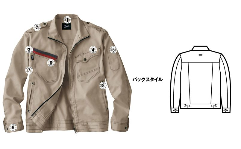 自重堂JAWIN 51700 長袖ジャンパー(新庄モデル) 商品詳細・こだわりPOINT