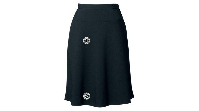 en joie(アンジョア) 51412 美しいシルエットに快適な着心地のフレアースカート 無地 商品詳細・こだわりPOINT