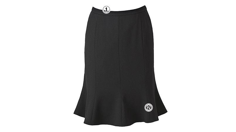 ESS469 enjoy マーメイドスカート 無地 商品詳細・こだわりPOINT
