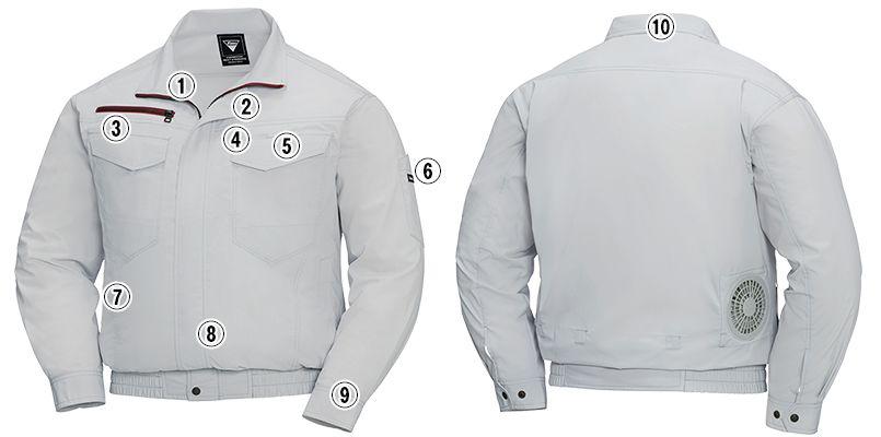 ジーベック XE98001SET [春夏用]空調服セット 長袖ブルゾン 遮熱 商品詳細・こだわりPOINT