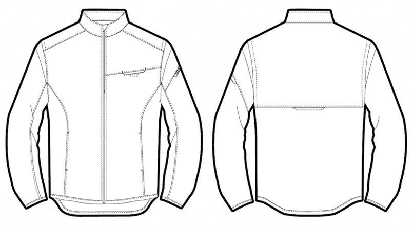 AZ50113 アイトス・タルテックス アームアップジャケット(スタッフブルゾン) ハンガーイラスト・線画