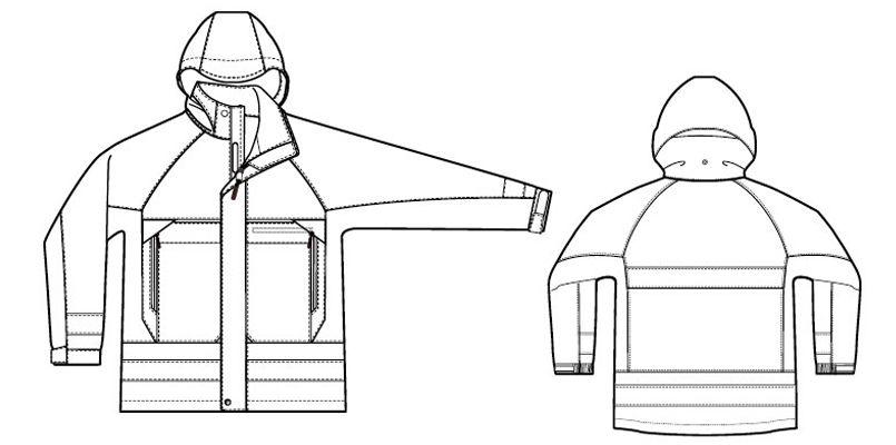 AZ56303 アイトス・ディアプレックス 全天候型リフレクタージャケット ハンガーイラスト・線画