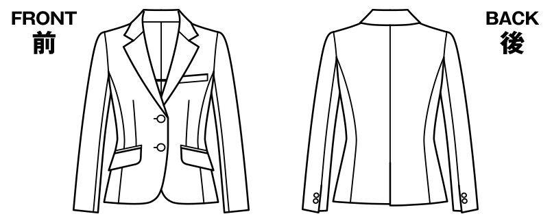 BONMAX AJ0240 [通年]アウトラストA ジャケット ストライプ ハンガーイラスト・線画