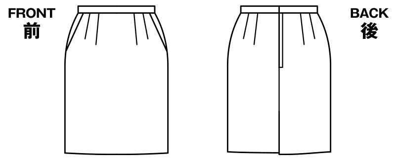 BONMAX AS2244 [通年]アウトラストI タイトスカート ストライプ[温度調整機能付] ハンガーイラスト・線画