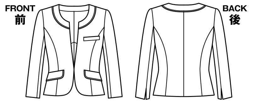 [在庫限り/返品交換不可]LJ0750 BONMAX/グラデート ジャケット ジャカード柄 ハンガーイラスト・線画