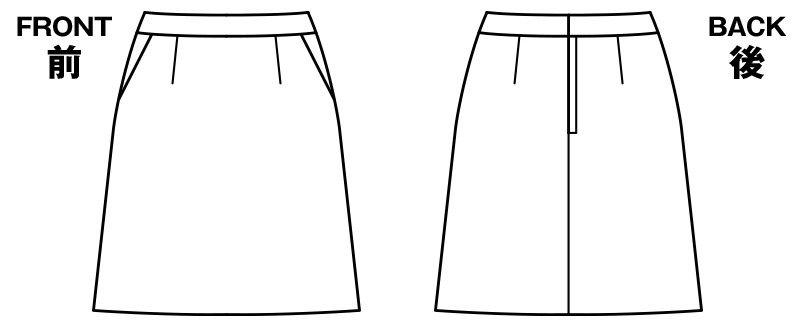 [在庫限り/返品交換不可]LS2748 BONMAX/グラデート Aラインスカート ジャカード柄 ハンガーイラスト・線画
