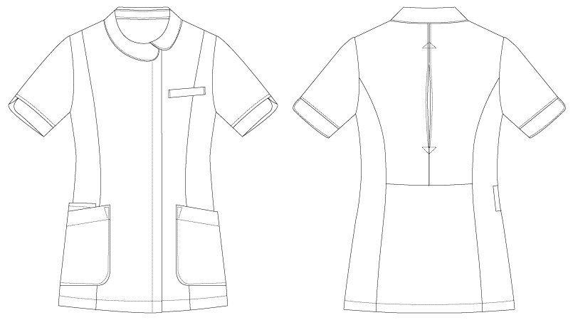CL-0227 キャララ(Calala) ジャケット(女性用) ハンガーイラスト・線画