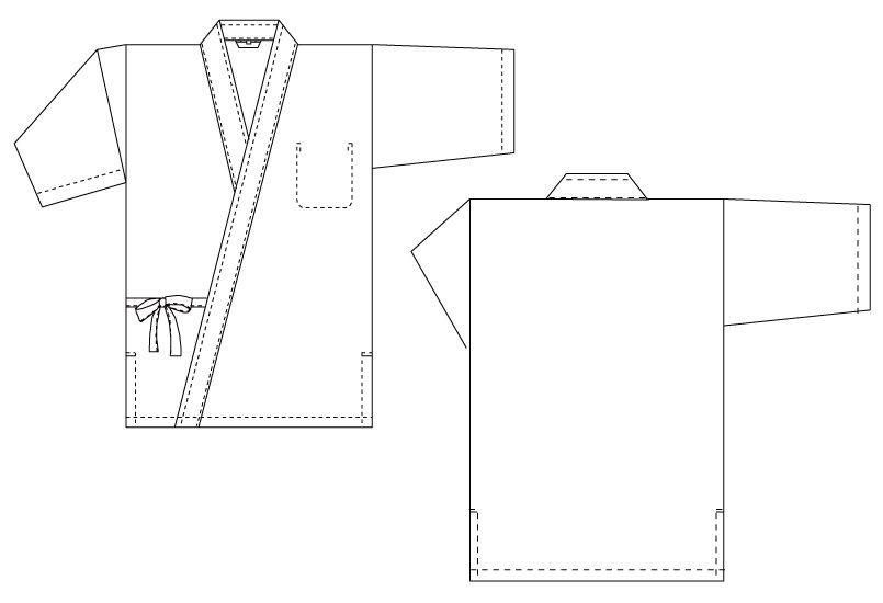 SR-1029 チトセ(アルベ) 甚平(男性用) ハンガーイラスト・線画