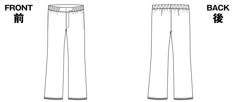 5015EW FOLK(フォーク) メンズパンツ 股下フリー(男性用) ハンガーイラスト・線画