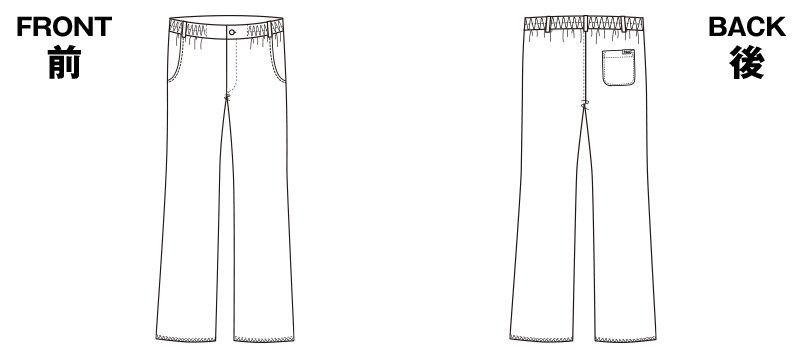 5021SC FOLK(フォーク) メンズパンツ(男性用) ハンガーイラスト・線画