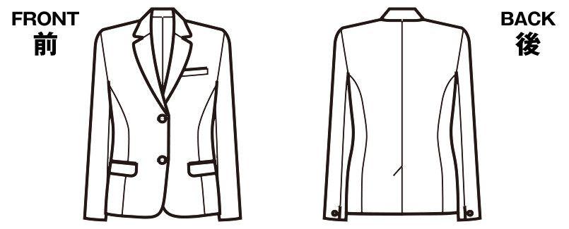FJ1028 nuovo(ヌーヴォ) ジャケット 無地 ハンガーイラスト・線画