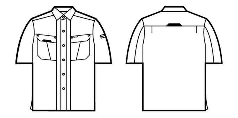 自重堂 47514 [春夏用]抗菌防臭 半袖シャツ ハンガーイラスト・線画