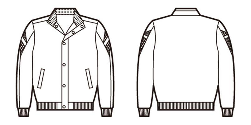 自重堂 48130 防寒ブルゾン(フード付) ハンガーイラスト・線画