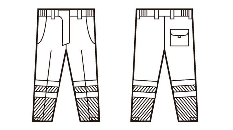 自重堂 48471 高視認防水防寒パンツ ハンガーイラスト・線画