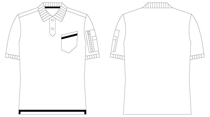 55354 自重堂JAWIN  [春夏用]鹿の子半袖ポロシャツ ハンガーイラスト・線画