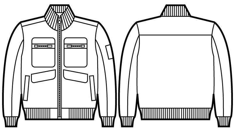 自重堂JAWIN 58120 防寒ブルゾン ハンガーイラスト・線画