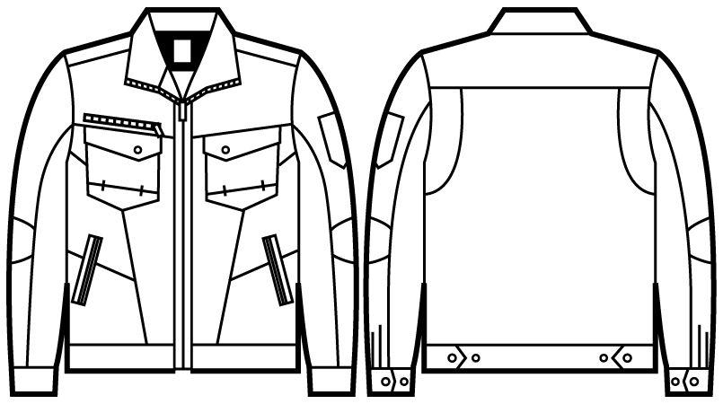 71200 自重堂Z-DRAGON 綿100%ジャンパー ハンガーイラスト・線画