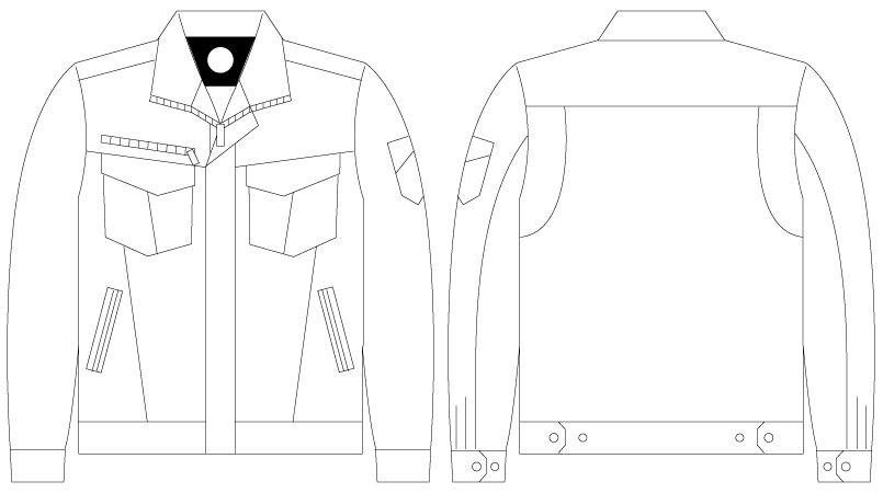 自重堂Z-DRAGON 75000 [春夏用]ストレッチ長袖ジャンパー ハンガーイラスト・線画