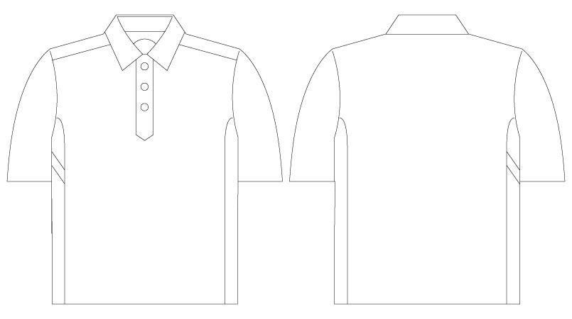 自重堂Z-DRAGON 75114 半袖ポロシャツ(男女兼用) ハンガーイラスト・線画