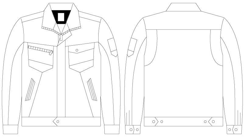 75300 自重堂Z-DRAGON [春夏用]製品制電長袖ジャンパー(男女兼用) ハンガーイラスト・線画