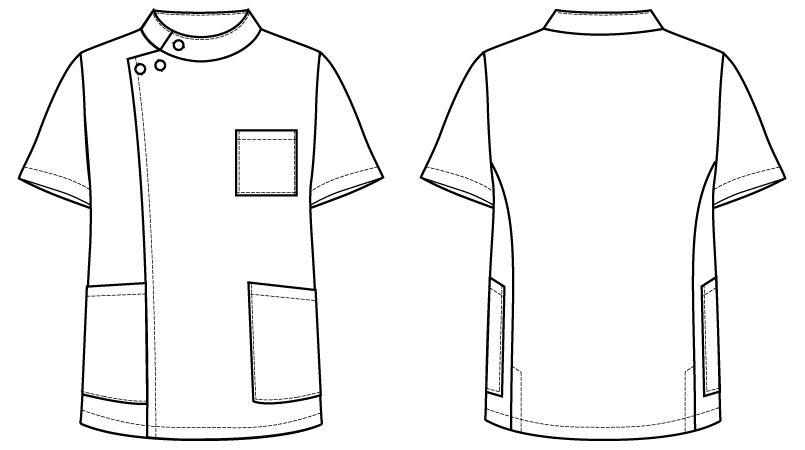 自重堂WHISEL WH10415 メンズケーシー(男性用) ハンガーイラスト・線画